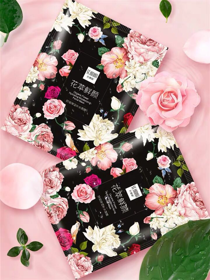 ROSE Flower Extract Face Mask Korean Whitening Sheet Mask Moisturizing Mask Nourishing Skin Care Facial  Korean Fresh Makeup