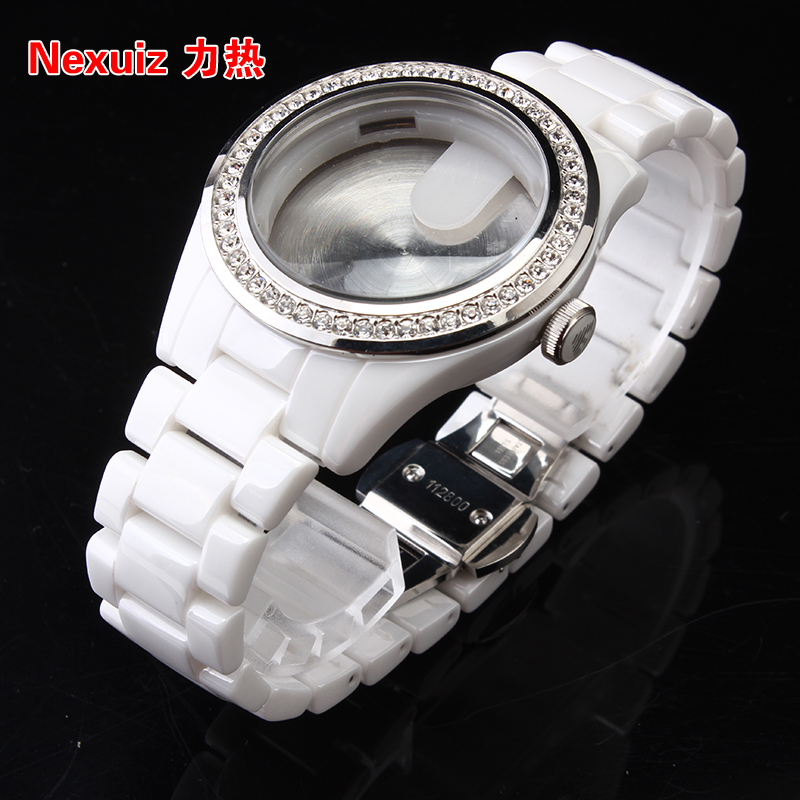 NEW Watchbands,High Quality white Ceramic Watchband Diamond Watch for AR1426 women watche Bracelet WATCHBAND 22mm new watchbands high quality ceramic watchband black diamond watch fit ar1406 man watches bracelet watch strap watchband
