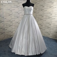 Cheap Price 2018 New Free Shipping Beading Sashes A Line With Train White Ivory Wedding Dresses