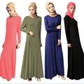 A018 Свободный стиль Чистый цвет 2016 новый стиль Модальные Мусульманская Женщина абая длинные большой Подол Основной стиль Розничная продажа Исламских Женщин-платье