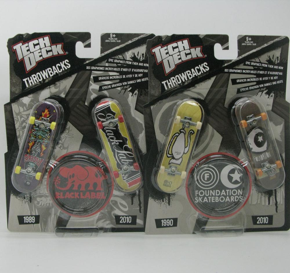 Tech Deck throwbacks 96mm Fingerborad Skateboard Alien zoo yory black label