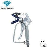 Rongpeng High Pressure Airless Spray Gun 818C With 517 Tip And TIip Guard For Airless Paint
