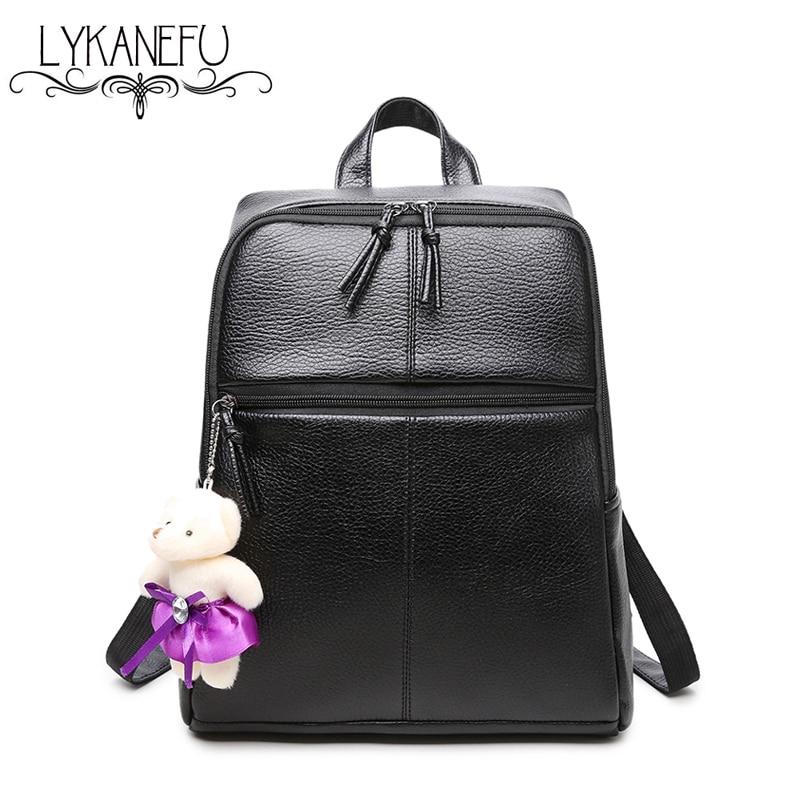 LYKANEFU Women Backpack School Bags For Teenagers Girls Shoulders Book Bag Student Sac a Dos Female Backpacks Dollar Price F5