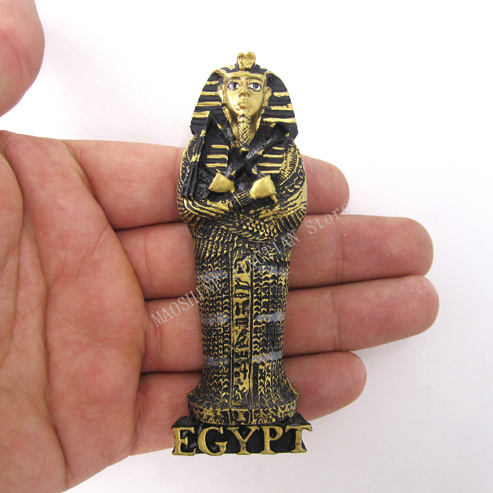fridge magnet souvenir Ancient Egypt Countries Egyptian Pharaoh Handpainted 3D Resin refrigerator Magnets Sticker Crafts in Fridge Magnets from Home Garden