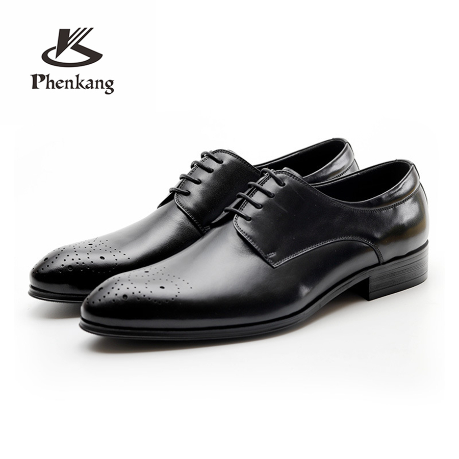 100% Genuine cow leather brogue Wedding shoes mens casual flats shoes vintage handmade oxford shoes for men black red spring aardimi 100% cow leather oxford shoes for woman spring