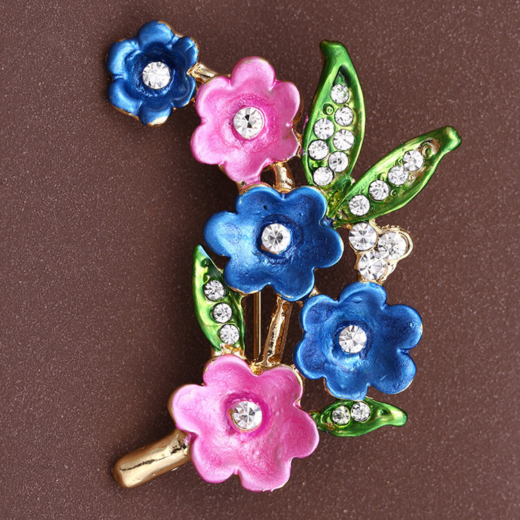 Brand New Hot Cute Painting Plum Flower font b Women b font Brooch Pin Fashion Jewelry