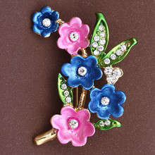 Brand New Hot Cute Painting Plum Flower Women Brooch Pin Fashion Jewelry All-match Wholesale Clothing Accessories
