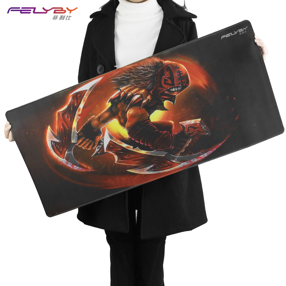 FELYBY thick comfortable natural rubber waterproof keyboard/mouse pad laptop mouse mat gaming CS gaming mouse pad to Dote2 цены