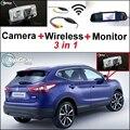 3 in1 Especial Cámara de Visión Trasera + Receptor Inalámbrico + espejo Monitor de Fácil Sistema de Aparcamiento Para Nissan Qashqai Dualis J11 2012 ~ 2015