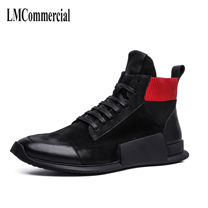 The autumn winter with cashmere thermal men Martin shoes all-match leather high casual leisure shoes breathable sneaker fashion 2017 new autumn winter british retro men shoes zipper leather breathable sneaker fashion boots men casual shoes handmade