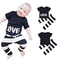 Summer Newborn Children Baby Boys Girls Clothes Short Sleeve T-shirt Panties Sport Suits Clothing Set