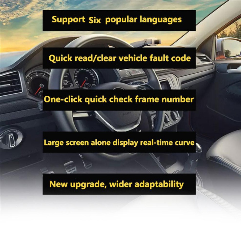 OBDII EOBD CAN Auto Code Scan Tool v310 Code Readers&Scan Tools obd2 car fault code scanner V1.1 16pin Male Scanner obd2 - 3