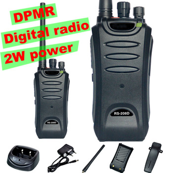 2W Professional Walkie Talkie RS208D DPMR Digital Radio 16 Channels UHF 400-470MHz  Digital Two Way Radio with Accessory