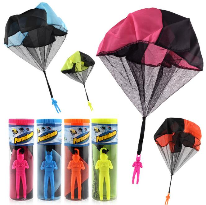 1pcs Hand Throwing Kids Mini Light Play Parachute Toy Children Educational Toys Kids Outdoor Games Soldier Outdoor Sports