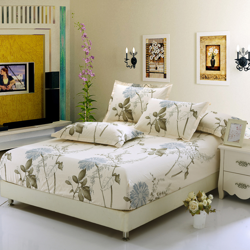 100 cotton fitted sheet twin double full queen king size. Black Bedroom Furniture Sets. Home Design Ideas