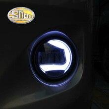 SNCN 2-в-1 функции светодиоидные лампы автомобиля дневного света Автомобильный светодиод DRL Туман лампа проектора свет для Toyota Avensis 2009-2016
