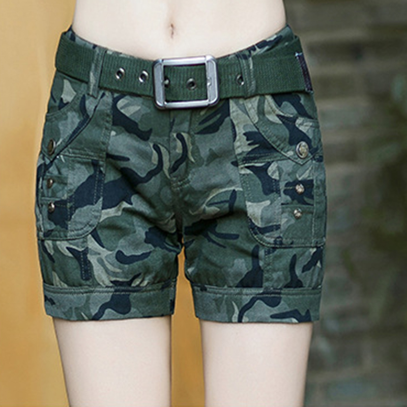 BabYoung Workout Shorts Women Shorts Army Green Military Camouflage - Women's Clothing - Photo 4
