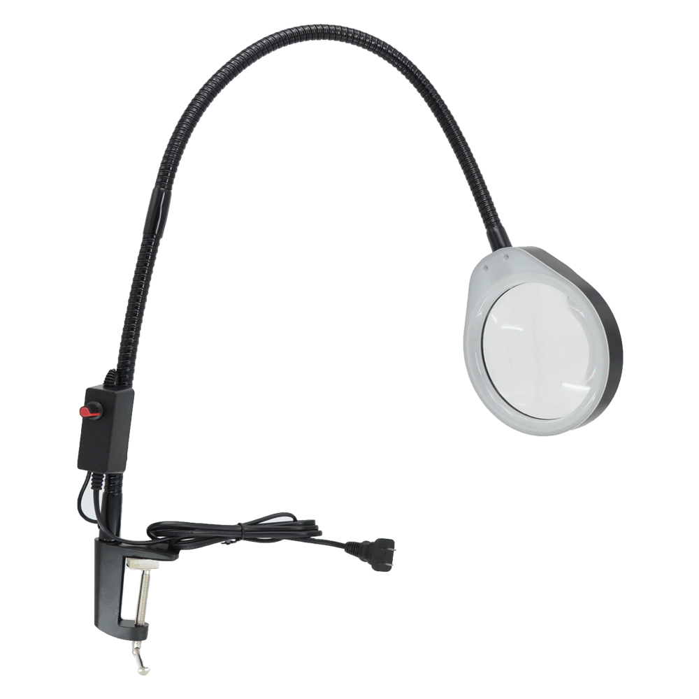 10X LED Magnifier Light Long Arm With Table Clamp Adjustable Industrial Clamp for Desk, Table, Craft or Work Bench, Black10X LED Magnifier Light Long Arm With Table Clamp Adjustable Industrial Clamp for Desk, Table, Craft or Work Bench, Black