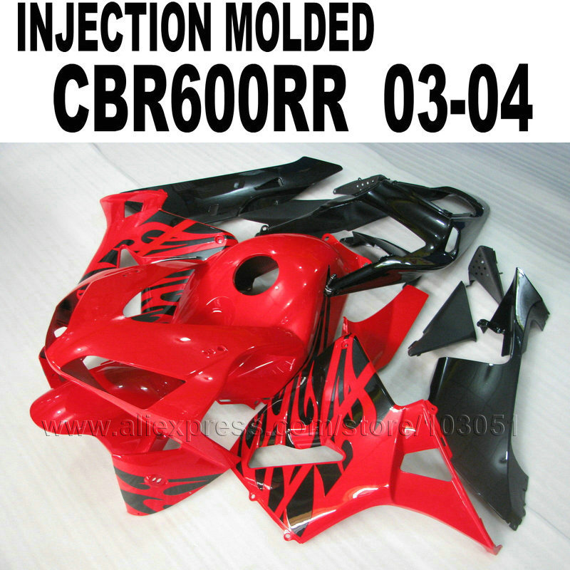 New Hot Motorcycle Injection mold fairing kits for Honda CBR600RR 2003 2004 CBR 600 RR 03 04 cbr600 red black fairings bodykit hot sales for honda cbr600rr 2003 2004 cbr 600rr 03 04 f5 cbr 600 rr blue black motorcycle cowl fairing kit injection molding