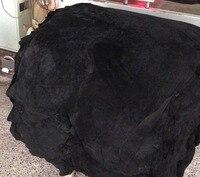 Black Genuine Pig Split Leather Raw Material 10 Pieces Wholesale