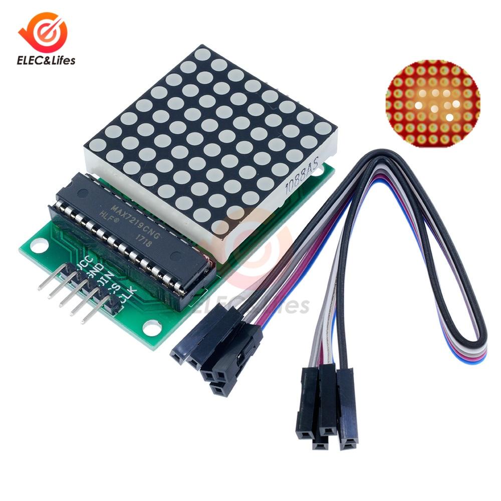 MAX7219 MAX7219CNG Dot Matrix Module MCU LED Display Driver Control Module DC 5V For Arduino 8x8 dot matrix common cathode