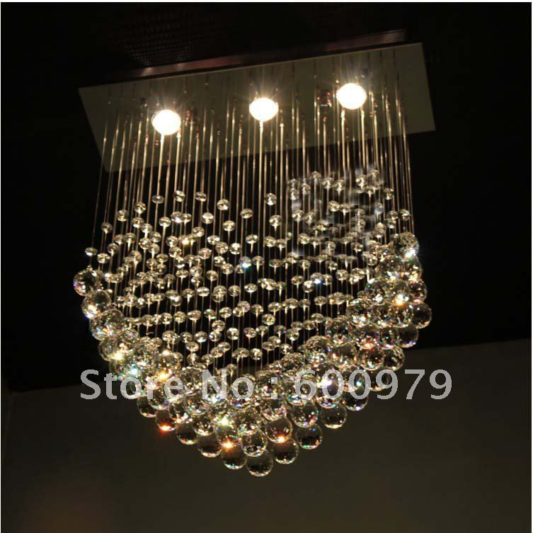 Free shipping modern lamp  top crystal transparent pendant  lamp  aslo for wholesale