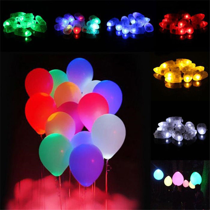 Coloured Mini Small LED Lamps Flash Balloon Light For Paper Lantern Christmas Wedding Party Decor Light