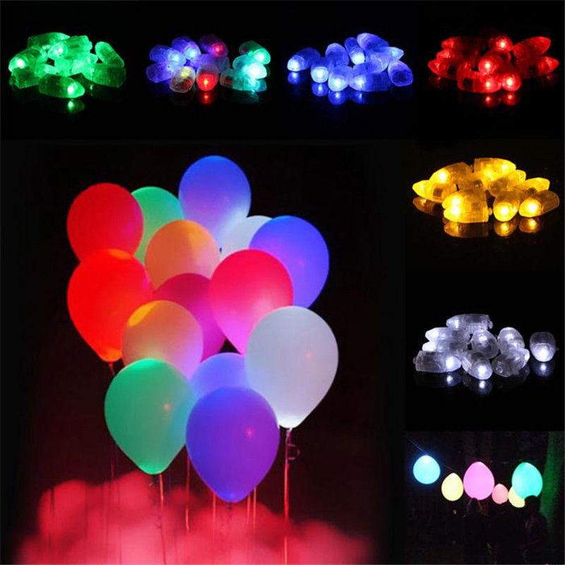 Coloured Mini Small LED Lamps Flash Balloon Light For Paper Lantern Christmas Wedding Party Decor Light