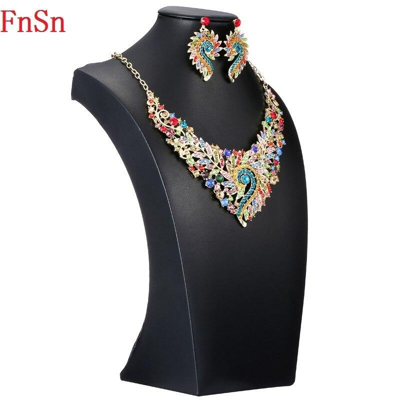 Fnsn forró új ékszer szett kristályos zakó nyaklánc szett női - Divatékszer - Fénykép 2