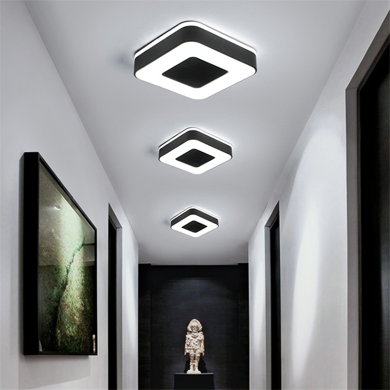 2019 New Design Modern Simple LED Ceiling Light Round Square Surface Mounted White Black Lamp for Bedroom Corridor2019 New Design Modern Simple LED Ceiling Light Round Square Surface Mounted White Black Lamp for Bedroom Corridor