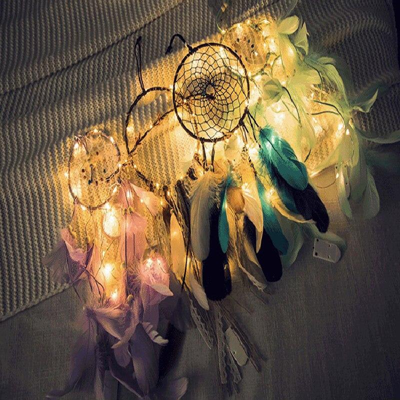 Creative Home Decorative Lamp Chasing Dream String Diy Wind Chime Lamp LED Light Girl Atrium Romantic Decorative Lights LED Lamp