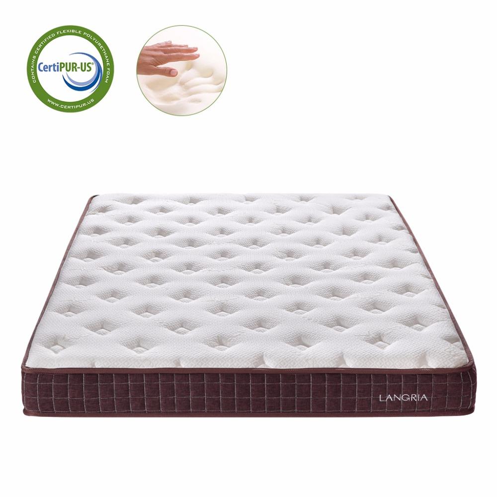 langria 8 inch dual layer modern plush high density bed memory foam