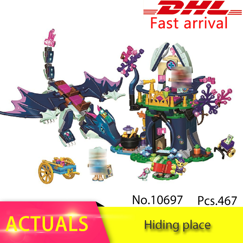 New 10697 Elves The Rosalind healing hiding place Building Blocks DIY Bricks toys For Children Compatible With 41187 for Girl