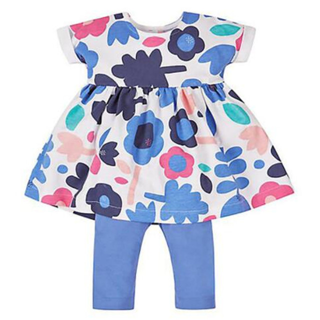 cdae792e3 Clearance Baby Girls 2-Piece/sets short sleeved Dress & legging shorts pants  ,Baby Clothes ,printed floral pattern tutu skirt