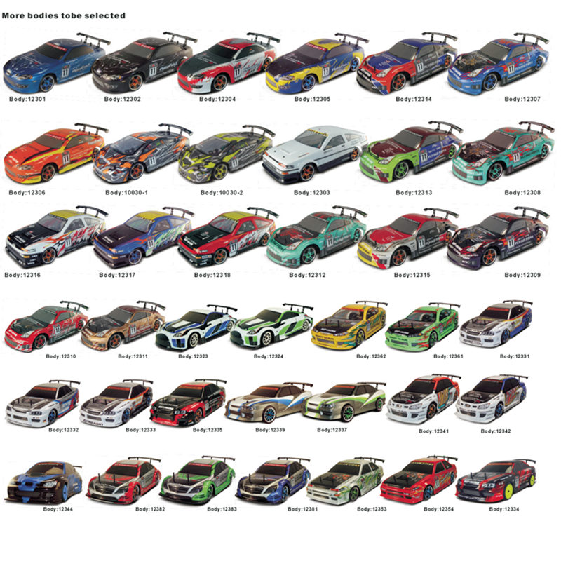 2PCS BODYSHEL COVER HSP RC CAR SPARE PARTS ACCESSORIES 1/10 SCALE ELECTRIC ON ROAD DRIFT CAR BODYSHELL 44.5*20CM VARIOUS COLORS