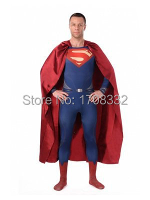 Man Of Steel Superman Costume One piece Superman Costume spandex navy blue superhero costume