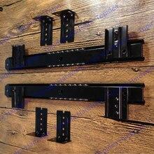 1 Пара Компьютерный стол клавиатура лоток следить слайд ящик направляющих рельс подкранового рельса клавиатура кронштейн руководство