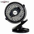 Wiederaufladbare Tragbare Clip Mini Fan 360 Grad-umdrehung Desktop USB Fan Stumm Kinderwagen Fan für Home Office Outdoor-reisen