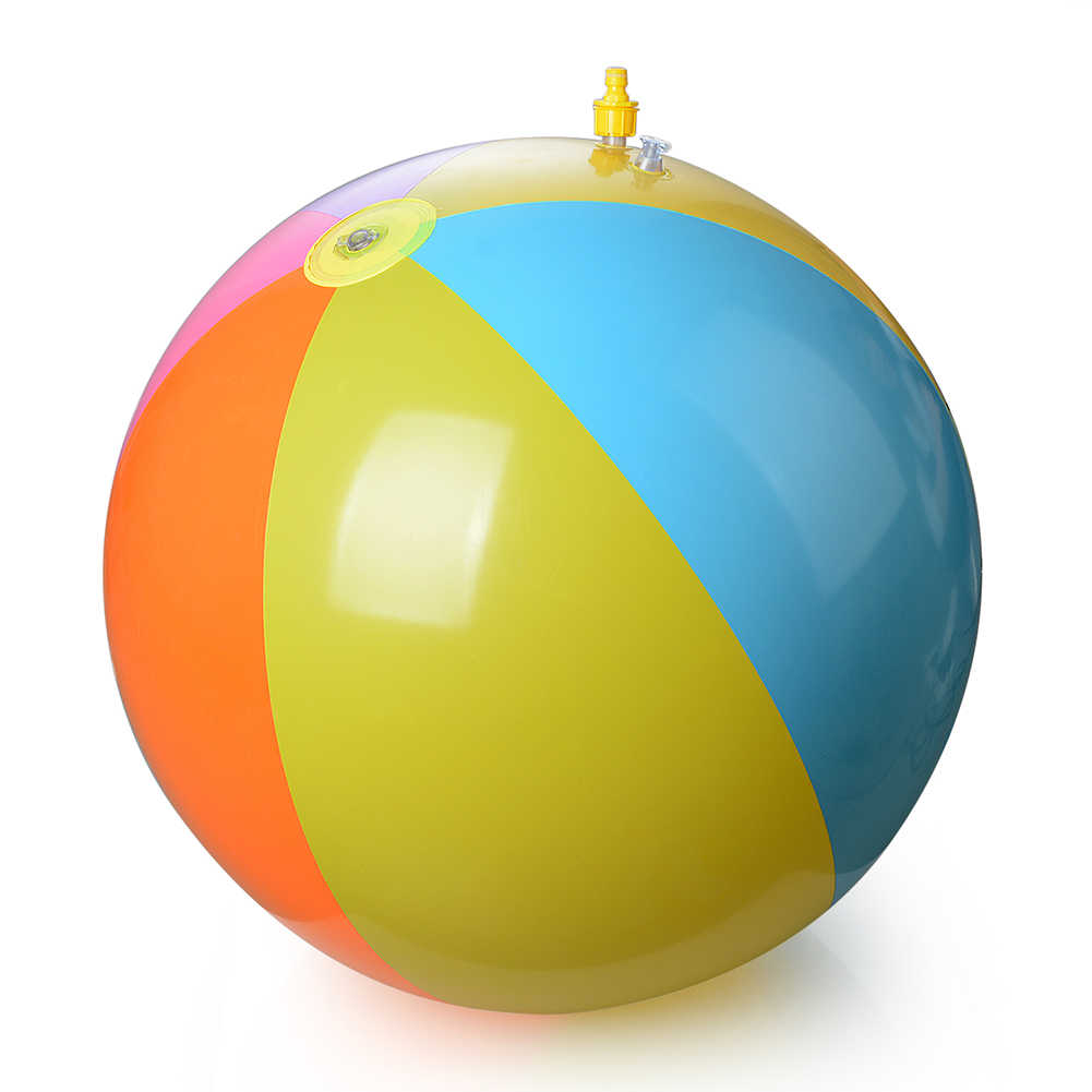 子供虹色の夏ビーチ世論調査再生ボール水泳のおもちゃビーチ再生
