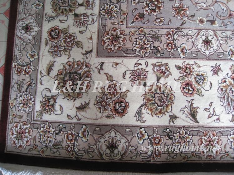 Brezplačna dostava 9'X12 '160 linijska ročno vezana volna in svila - Domači tekstil - Fotografija 3