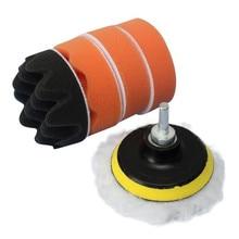 7 шт. губки волнистые пластины составные полировальные инструменты для автомобиля Дрель адаптер полировальная губка набор восковой полировки колодки# YL6