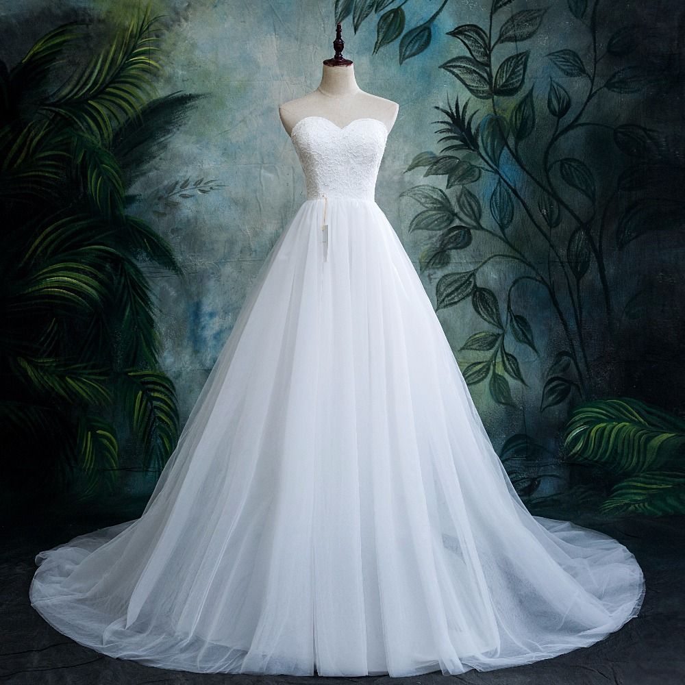 Cheap Wedding Dresses Lulu: 2018 New Lace Sweetheart Lace Tulle Boho Cheap Wedding