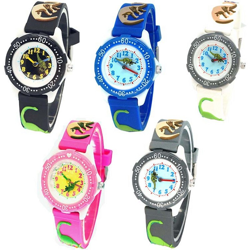 цена на New Creative dinosaur kids Fashion ladies wristwatch Sports Children Plastic Watches Casual Relogio femininos montre femme clock