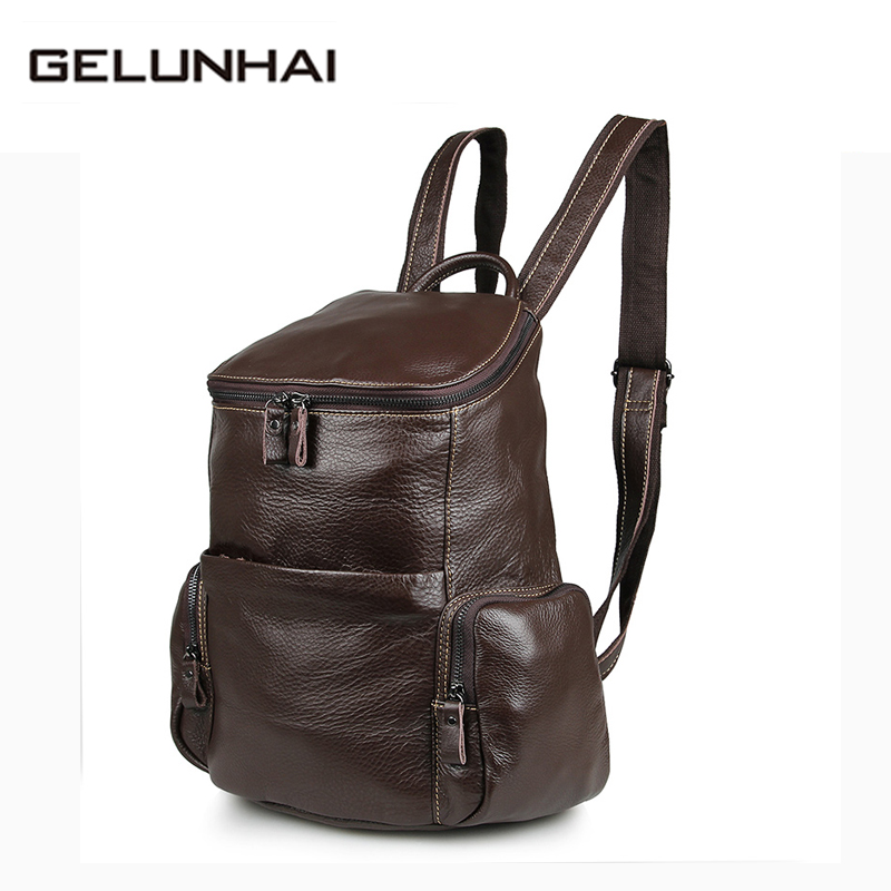 Mochilas New 2017 Genuine Cowhide Leather Backpack Women Travel Bags Casual Backpacks College Style Shoulder Bag Teenager 7336
