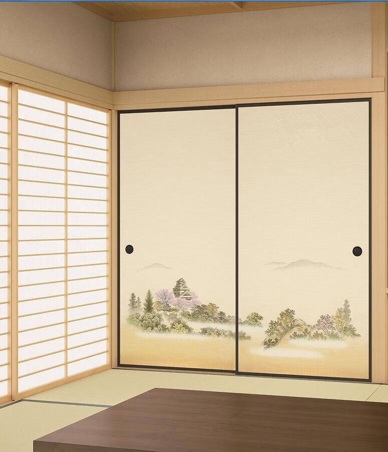 63 63 Japonais Fusuma Papier 2 Feuilles Paire Washitsu Woodblock Decor Decoratif Porte Papier Peint Soji Porte Coulissante Chambre Salon In