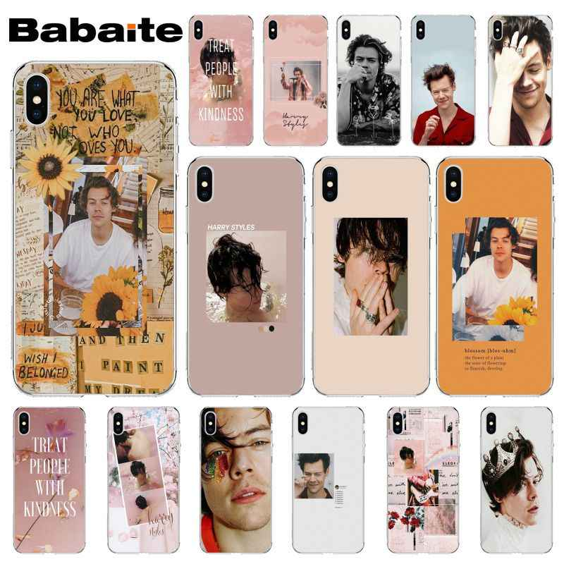 Babaite One Direction Harry Styles Roze Zachte Siliconen Telefoon Cover voor Apple iPhone 8 7 6 6 S Plus X XS MAX 5 5 S SE XR Mobiele Telefoons