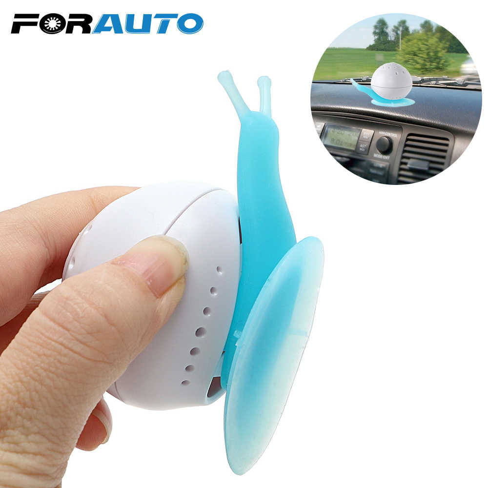 FORAUTO Car-styling Snail Shaped Car Air Freshener Perfume Suction Cup Wardrobe For Auto Bedroom Bathroom Solid Air Freshener