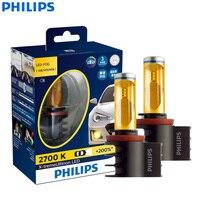 Philips X treme Ultinon LED H8 H11 H16 12V 12793UNIX2 2700K Golden Yellow Car LED Fog Lamp Auto Head Light +200% Bright (Twin)
