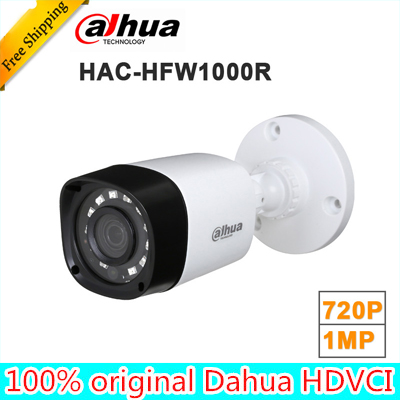 Original dahua HAC-HFW1000R 1MP HDCVI IR Bullet Camera Smart IR IP67 720P HD CCTV Lite Series | DH-HAC-HFW1000R dahua hdcvi 1080p bullet camera 1 2 72megapixel cmos 1080p ir 80m ip67 hac hfw1200d security camera dh hac hfw1200d camera