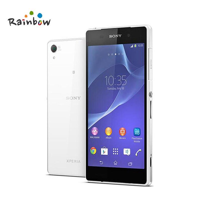 Sony Xperia Z2 Débloqué Original GSM Android Quad-Core 3 GB RAM 16G ROM D6503 3G & 4G 5.2 20.7MP + 2.2MP WIFI GPS Mobile Téléphone